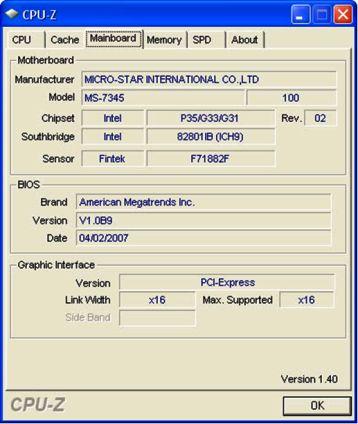 1GB Microstar International G33 Platinum Memory Ram